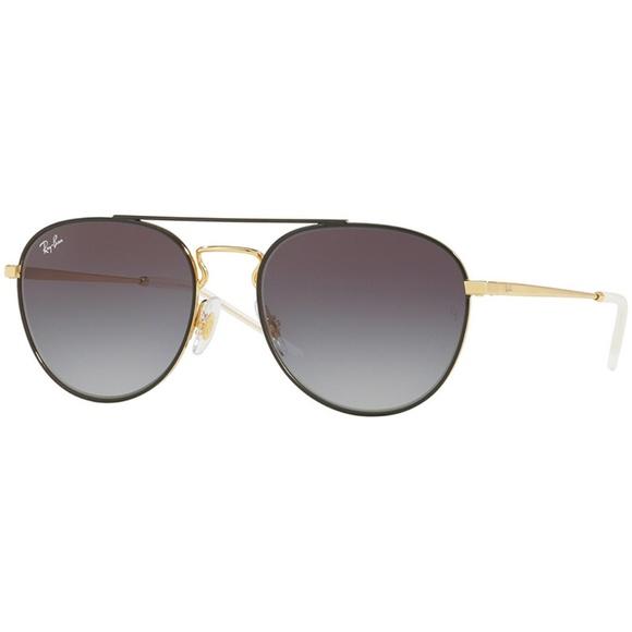 f0ee2f7206 Ray-Ban Sunglasses Gold Black   Grey Gradient Lens